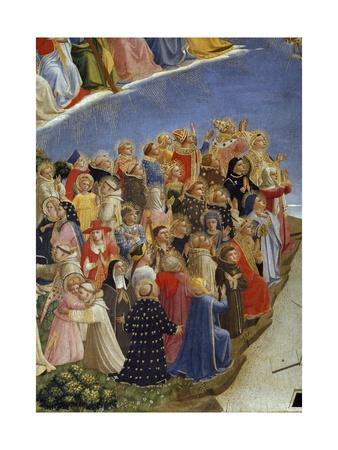The Last Judgement : Detail of the Saints in Heaven. among Them,