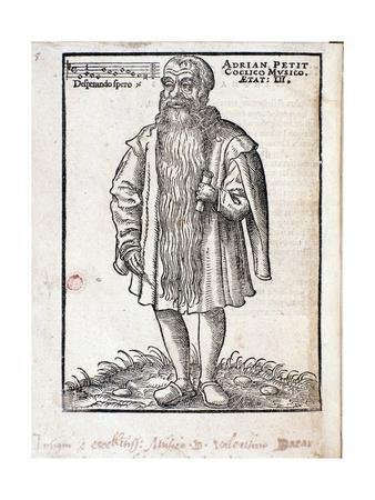 Portrait of Adrianus Petit Coclico Netherlandish Composer