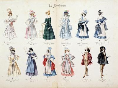 Musette, Marcello, Mimi, Characters of the Opera La Boheme