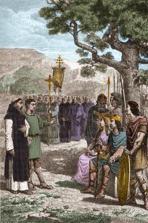 St Augustine of Canterbury Preaching before Ethelbert