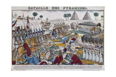 The Battle of the Pyramids, July 21, 1798.