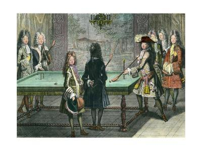 Louis XIV Playing Billiards with His Brother
