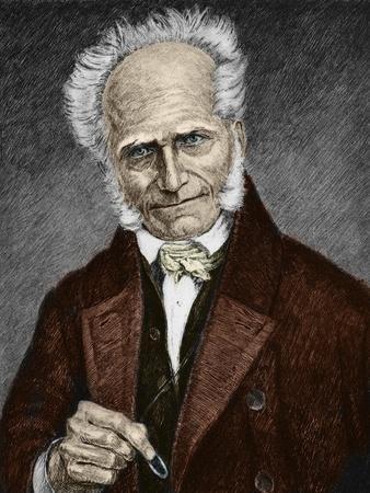 Portrait of German Philosopher Arthur Schopenhauer