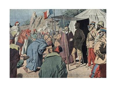 Moroccan Leaders Submitting to French General Gourad, 1914