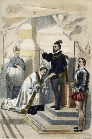 Bartolome De Las Casas with Emperor Charles V, 1520