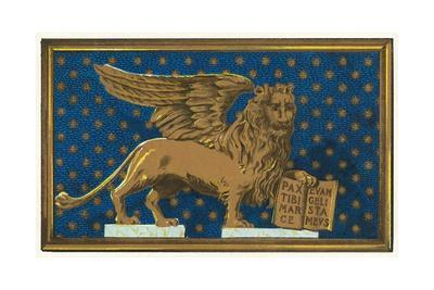 Winged Lion with Book