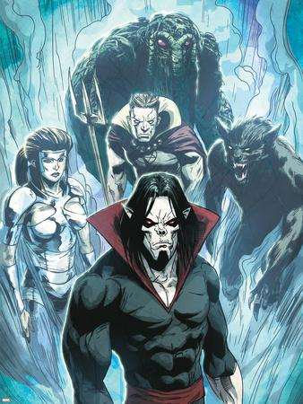 Zombie Morbius >> Marvel Zombies 3 No 4 Group Morbius Man Thing Werewolf By Night Hellstrom And Daimon
