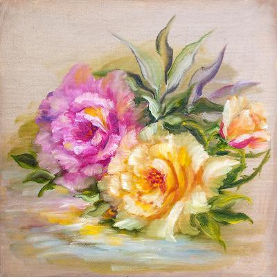Vinage Pink and Yellow Roses.