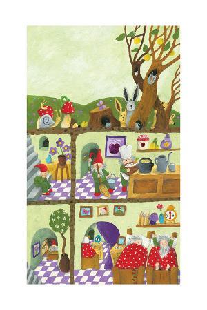 Fairy Tales Dwarf's Underground House