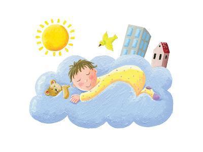 Baby Sleeping on Cloud