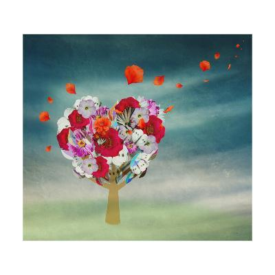 Flower Tree in the Shape of Heart, Valentine