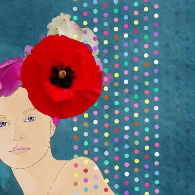 Beautiful Girl in a Flower Hat