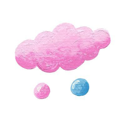 Pink Cloud with Two Drops