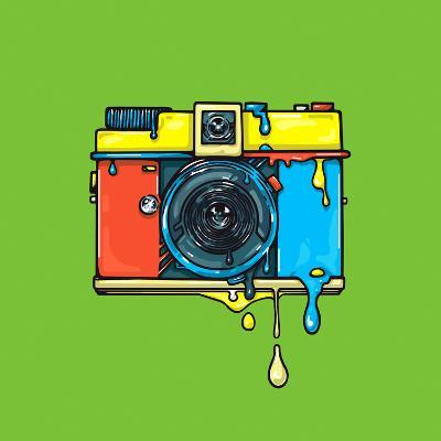 Bright Color Camera. Artwork.