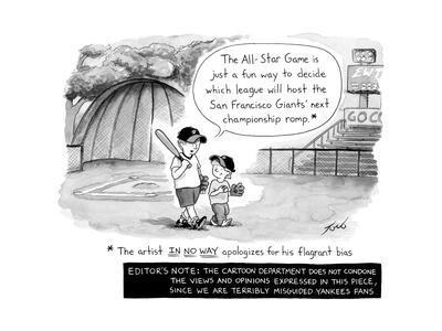 MLB All Star Game - Cartoon