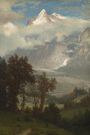 View of the Wetterhorn from the Valley of Grindelwald