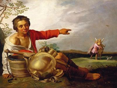 Shepherd Boy Pointing at Tobias and the Angel, C.1625-30
