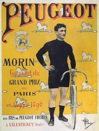 Poster Advertising the Cycles 'Peugeot', 1896