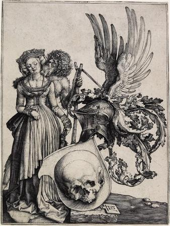 Coat-Of-Arms with a Skull, C. 1503