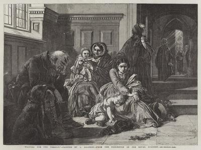 Waiting for the Verdict, from the Exhibition of the Royal Academy