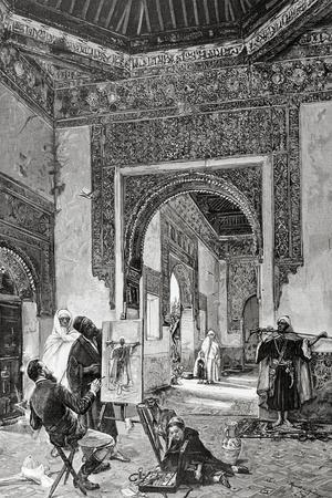 Ricardo De Madrazo (1851-1917). Por A. Closs. Reproduces a Painting by Madrazo. an Arab Model. La I