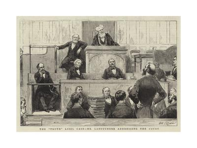 The Truth Libel Case, Mr Labouchere Addressing the Court