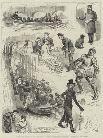 Amateur Theatricals of the Royal Naval Artillery Volunteers, on Board HMS Rainbow, on the Thames