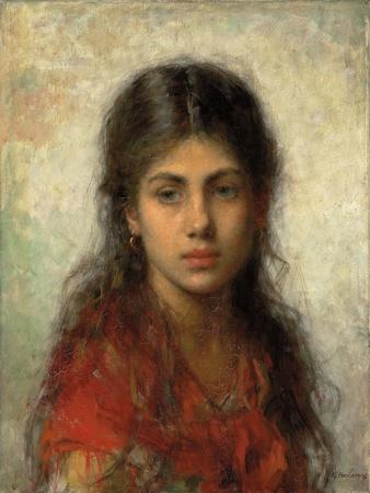 Girl with a Red Shawl