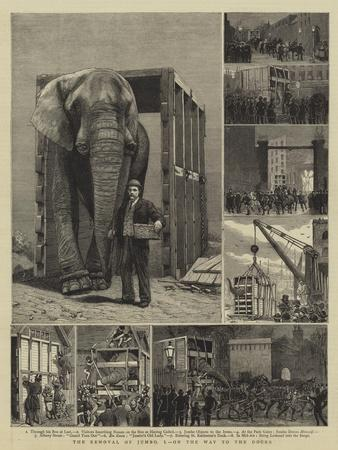 The Removal of Jumbo, I, on the Way to the Docks