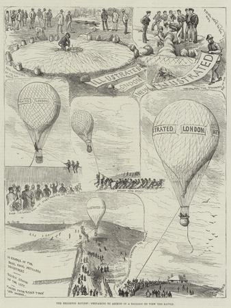 The Brighton Review, Preparing to Ascend in a Balloon to View the Battle
