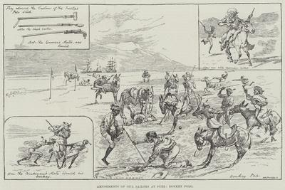 Amusements of Our Sailors at Suez, Donkey Polo