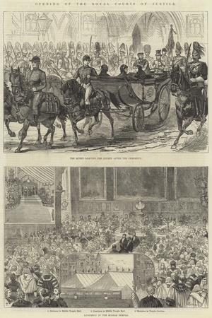 Opening of the Royal Courts of Justice