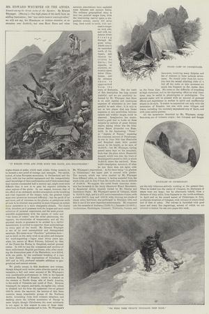 Mr Edward Whymper on the Andes