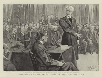 Presentation to Sir Henry Irving on Receiving His Title