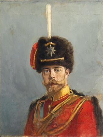 Study for a Portrait of Emperor Nicholas Ii, Chief of the Guard Hussar Regiment, C.1908