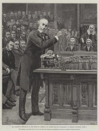 Mr Gladstone Explaining to the House of Commons His Scheme for the Government of Ireland