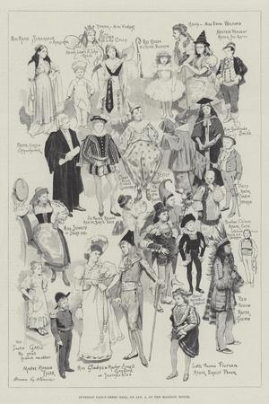 Juvenile Fancy-Dress Ball, on 5 January, at the Mansion House