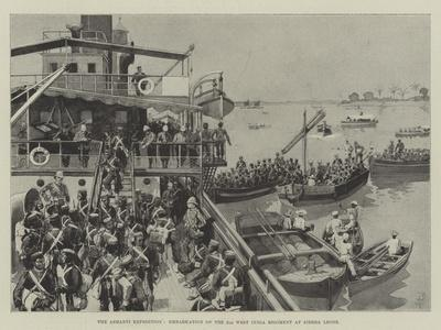 The Ashanti Expedition, Embarkation of the 2nd West India Regiment at Sierra Leone