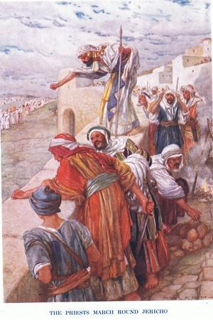 The Priests March around Jericho