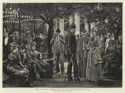 The Evening Promenade at the German Exhibition