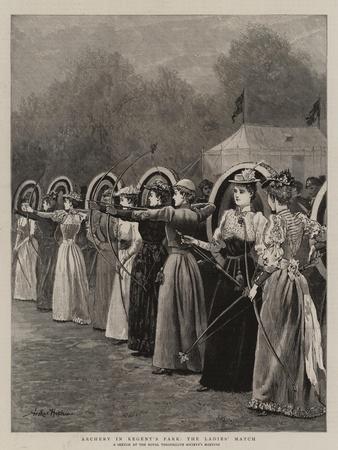 Archery in Regent's Park, the Ladies' Match
