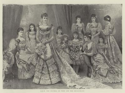 Hrh the Duchess of York and Her Bridesmaids