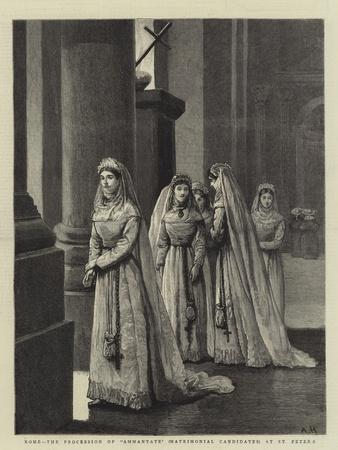 Rome, the Procession of Ammantate (Matrimonial Candidates) at St Peter'S