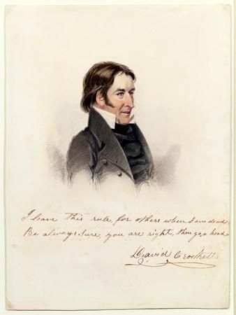 Portrait of David Crockett, 1834