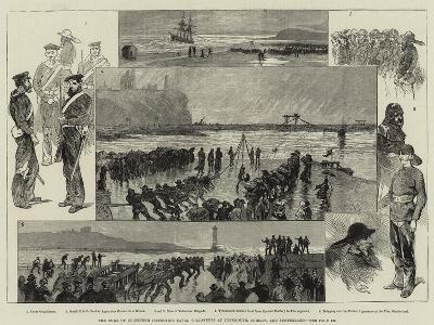 The Duke of Edinburgh Inspecting Naval Volunteers at Tynemouth, Shields, and Sunderland