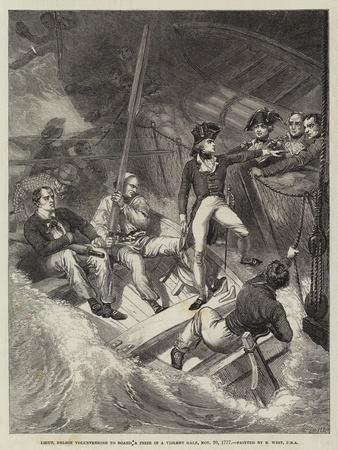 Lieutenant Nelson Volunteering to Board a Prize in a Violent Gale, 20 November 1777
