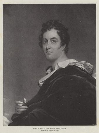 Lord Byron, at the Age of Thirty-Four