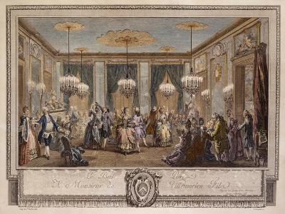 Le Bal Pare a Monsieur De Villemorien Fila, Engraved by L. Provost
