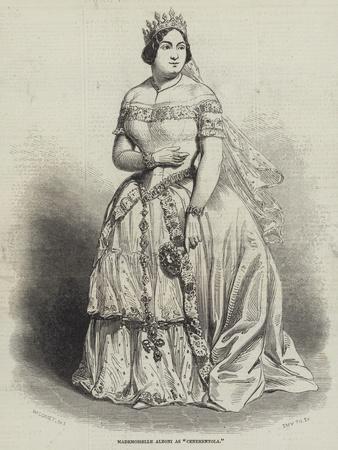 Mademoiselle Alboni as Cenerentola