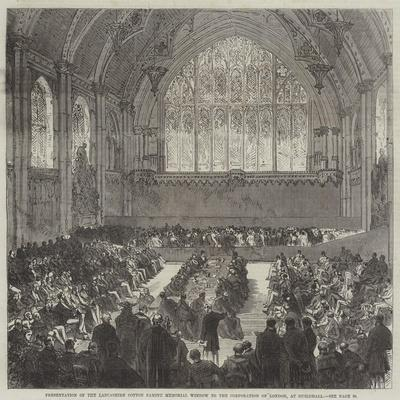 Presentation of the Lancashire Cotton Famine Memorial Window to the Corporation of London